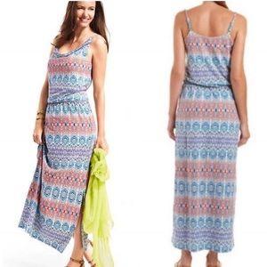 CAbi In The Sun Aztec Maxi Dress Sz S ::V23